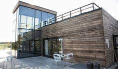 Kebony & Glass Facade House, Resort Spa, Living Spaces, Garage Doors, Facades, Architecture, Glass, Outdoor Decor, Modern