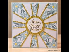 Christmas Sunburst - JanB UK Stampin' Up! Demonstrator Independent
