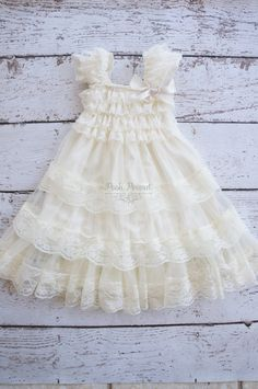 ivory flower girl dress lace flower girl dress by PoshPeanutKids, $38.00 for Sonia?
