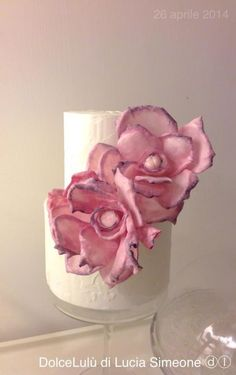 the sweet pink peony, wafer paper flower