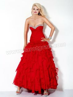 Red a Line Strapless Sweetheart Ankle Length Celebrity Dress With Sequins and Ruffles