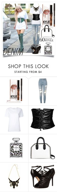 """Tear it Up: Distressed Denim"" by m-illumino-di-glamour ❤ liked on Polyvore featuring River Island, Astraet, Chanel, STELLA McCARTNEY and L.A.M.B."