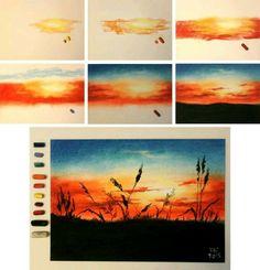 Bildergebnis für pastel drawing step by step - Zeichnung Watercolor Art, Art Painting, Soft Pastel Art, Art Drawings, Pastel Painting, Art Projects, Oil Pastel Art, Art, Canvas Painting