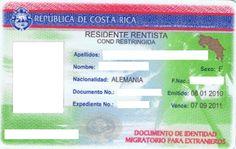 Costa Rica Residency Card