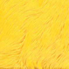 Faux Fur Luxury Shag Yellow - Discount Designer Fabric - Fabric.com