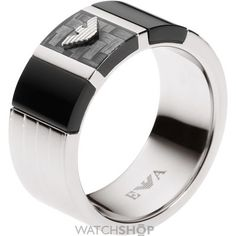 Mens Emporio Armani Stainless Steel Ring EGS1689040515
