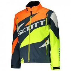 Scott COMPR Jackets (BLU/NEON ORG). *DRYOsphere Technology**Insulation 160g**Removable Lining**SnowCuff* Insulation, Motorcycle Jacket, Neon, Technology, Jackets, Fashion, Down Jackets, Moda, Tech