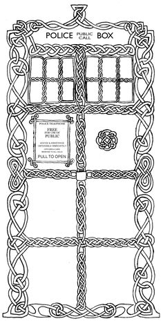 Celtic TARDIS by ~SCADbound on deviantART. going to have to print this one out, Celtic and the TARDIS. best of both worlds for me :)