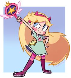 star vs the forces of evil this kind of looks like sailor moon because of the wand