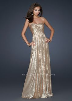 Gold Prom Dresses - Shop Gorgeous Gold Dresses for Prom 2014 ...