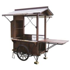 Canada food cart used for outdoor cart mobile cart for sale Food Stall Design, Food Cart Design, Food Truck Design, Coffee Carts, Coffee Shop, Vendor Cart, Cafe Display, Wood Cart, Mobile Catering