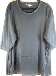 Sport Tek Women S/S T Shirt Size 4XL Blue 100% Cotton NEW.  XXX 44 #SportTek #BasicTee