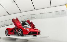 Download wallpapers Ferrari LaFerrari, red supercar, racing car, italian cars, Ferrari