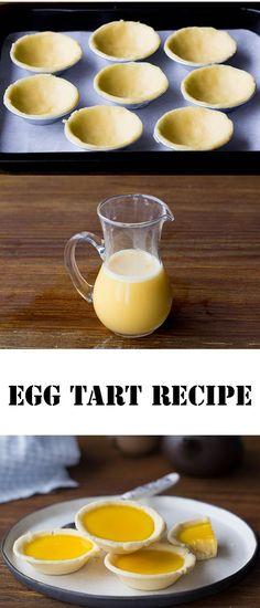 Egg tart recipe http://ChinaSichuanFood.com