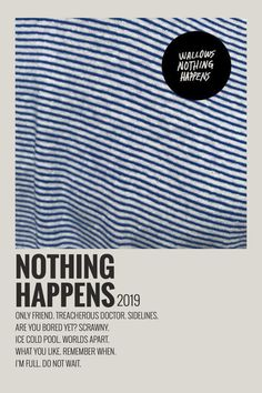 Alternative Minimalist Music Album Poster- Nothing Happens by Wallows 2019 Posters Wall, Poster Prints, Poster Minimalista, Le Vent Se Leve, Iconic Movie Posters, Film Posters, Minimalist Music, Vintage Music Posters, Vintage Movies