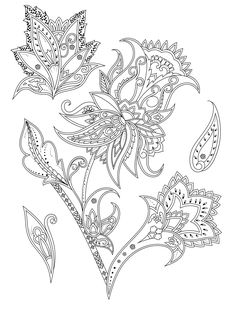 adult coloring page with flowers to print at home