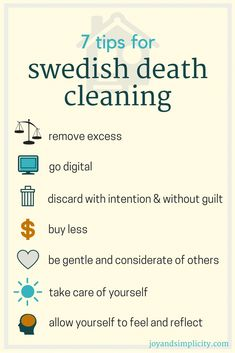 7 tips for Swedish Death Cleaning #organizing #minimalism #cleaning #swedish #homedecor