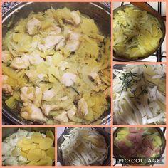 Bocconcini di pollo con patate e finocchi