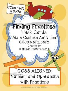 FREE Finding Fractions Problem Solving Activity Tasks from Cool Teaching Tools on TeachersNotebook.com -  (6 pages)  - Free sample of my Finding Fractions task cards and activity sheets for 5th grade CCSS 5.NF.1 AND 5.NF.2.