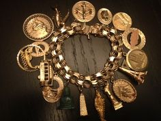14k 18K Gold Charm Bracelet 18 Charms from All Over The World Travel Unique | eBay seller goldtag