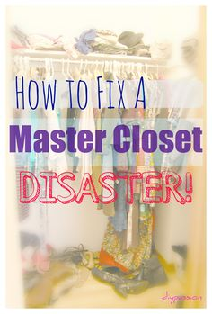 How to fix a master closet disaster #organize