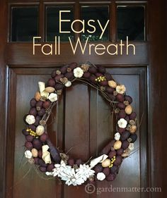 DYI fall wreath  www.gardenmatter.com
