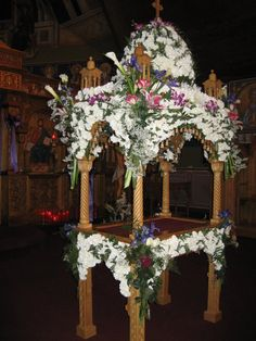 Wilmington, NC Church Flower Arrangements, Church Decorations, Orthodox Christianity, Wilmington Nc, Holy Week, Byzantine, Christmas Tree, Faith, Holiday Decor