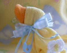 The ORIGINAL WASHCLOTH DUCK..Baby Quackers by mollbelldesigns