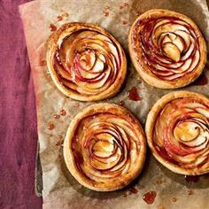 Tartes fines with caramel crisp recipe. A popular French apple dessert, glazed with an apricot jam. Serve with lightly whipped double cream.