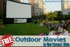 Free Outdoor Movies in Northeast Ohio this summer!