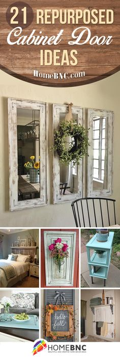 Repurposed Cabinet Door Decor Ideas