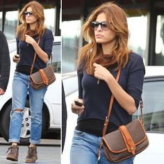 Eva Mendes Goes Casual Cool in Boyfriend Jeans and Sneakers