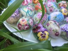 Porcelain Easter eggs Hand painted $35 . Signed by the artist