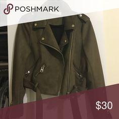 Zara faux suede Moto jacket Worn twice. Perfect condition Zara Jackets & Coats