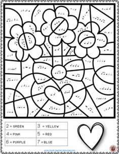 Valentine's Day Music: 26 Valentine's Day Music Colouring Pages Piano Lessons For Beginners, Music Lessons For Kids, Music For Kids, Piano Practice Chart, Thanksgiving Classroom Activities, Valentine Songs, Piano Classes, Piano Teaching, Learning Piano