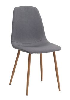 Matbordsstol JONSTRUP grå/ek   JYSK