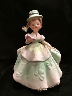 Vintage St. Patrick's Day Lady Planter