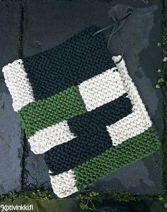 Neulottu patalappu - nopea ohje! Ruudullinen patalappu neulotaan ainaoikeinneuleella kolminkertaisella langalla, joten valmista tulee hetkessä. Blanket, Crochet, Random, Chrochet, Blankets, Crocheting, Carpet, Casual, Ganchillo