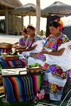 The ladies of Mexico in the Yucatan region are inspiration for some of #TOMS textiles- que bonita!