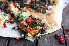 Caramelized Butternut, Crispy Kale, and Fontina Pizza
