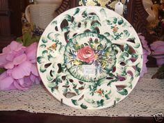 DECORATIVE/COLLECTABLE PLATE WEIL ITALY MARKED 1380/A $20 - ebay