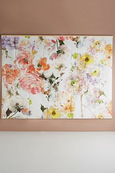 Discover unique Art at Anthropologie, including the seasons newest arrivals. Mural Floral, Floral Wall, Motif Floral, Floral Design, Wallpaper Manufacturers, Anthropologie, Artwork Images, Landscape Walls, Geometric Wall