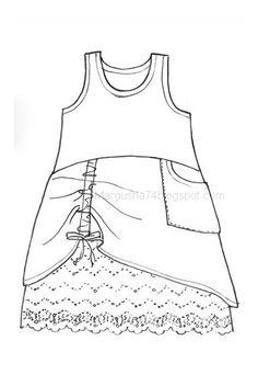 Коробка увлечений: Одежда в стиле бохо. Эскизы и чертежи