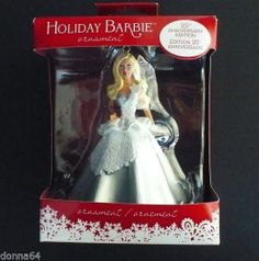 2013 Holiday Barbie Christmas Ornament, 25th Anniversary Edition, American Greetings, NEW