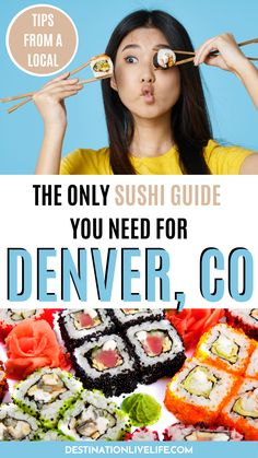 Do you love sushi? Do you love Denver, CO? Well why not combine the two and dine at some of the most amazing sushi restaurants in Denver! The city (surprisingly) boasts decorated and world-renowned sushi chefs. Learn more here! Best Sushi in Denver | Best Sushi Denver | Denver Sushi | Sushi Denver | Best Denver Restaurants | Where to Eat in Denver | Denvers Best Restaurants | Denver Travel Guide | Places That Cater, Best Places To Eat, Food Travel, Usa Travel, Spicy California Roll, Sushi Guide, Denver Travel, Best Sushi, Beer Fest