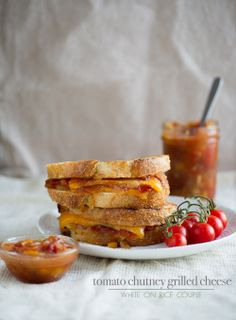 tomato chutney grilled cheese sandwich recipe