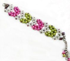 Free pattern for bracelet Geisha | Beads Magic (more 2-needle weave) ~ Seed Bead Tutorials
