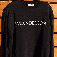 Want to steal that post-show-model look? Here's your chance to rock a genuine JW crew neck worn by model Lucas Satherley. 2 small holes near back of neck. Cotton.