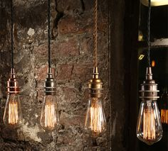 Schlichte Hängeleuchte zum Einsatz mit Edison-Glühlampe *