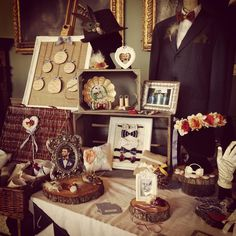 Lilly Dilly's stand at the Worcester Vintage Wedding Fayre Oct 2015 #lillydillys #weddingfayre #vintage #bespoke #couture